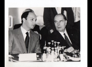 F6288/ Francois Mitterand + Laurent Fabius Frankreich 1984 Foto 21,5 x 16,5 cm