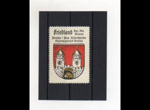 Y1414/ Reklamemarke Friedland Bz. Breslau Schlesien Wappen Kaffe Hag