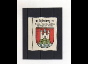Y1430/ Reklamemarke Festenberg Bz. Breslau Schlesien Wappen Kaffee Hag