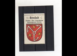 Y1428/ Reklamemarke Bernstadt Bz. Breslau Schlesien Wappen Kaffee Hag