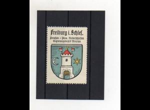Y1427/ Reklamemarke Freiburg i. Schlesien Bz. Breslau Wappen Kaffee Hag