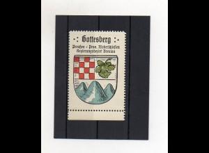 Y1423/ Reklamemarke Gottesberg Bz. Breslau Schlesien Wappen Kaffee Hag