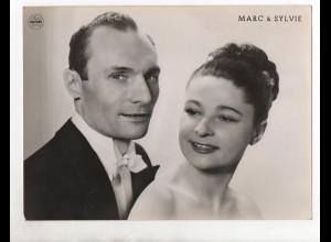 C1806/ Marc & Sylvie Photo Mahler Hamburg Variete ca.1955 Foto 24 x 18 cm