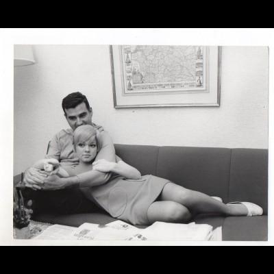 F6450/ Rita Pavone und Ehemann Teddy Reno Foto ca.1970 24 x 18 cm