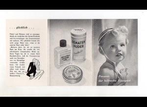 Y1883/ Werbung Penaten-Creme Puder ca.1960 Faltblatt
