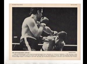 FP176/ Boxen Karl Mildenberger - Oscar Bonavena in Frankfurt 1967 23 x 17 cm