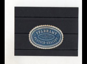Y2026/ Siegelmarke Pfarramt Deutsch-Kralupp Böhmen ca.1910
