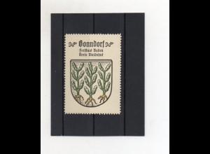 Y2029/ Reklamemarke Bonndorf Kreis Waldshut Wappen ca.1930-35