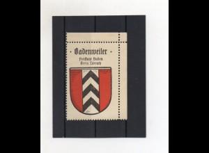Y2040/ Reklamemarke Badenweiler Kreis Lörrach Wappen ca.1930-35