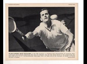 FP238/ Tennis Wilhelm Bungert Davispokal gegen Südafrika 1968 23 x 17 cm