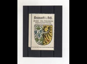 Y2087/ Reklamemarke Neumarkt Schlesien Wappen ca.1930 Kaffee Hag