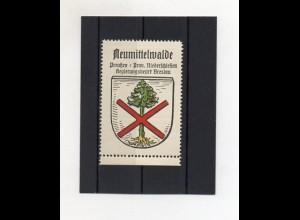 Y2090/ Reklamemarke Neumittelwalde Schlesien Wappen ca.1930 Kaffee Hag
