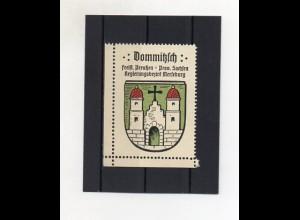 Y2105/ Reklamemarke Dommitzsch Schlesien Wappen ca.1930 Kaffee Hag