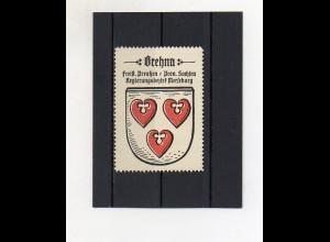 Y2110/ Reklamemarke Brehna Prov. Sachsen Wappen ca.1930 Kaffee Hag