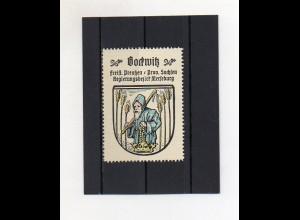 Y2111/ Reklamemarke Bockwitz Prov. Sachsen Wappen ca.1930 Kaffee Hag