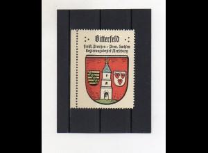 Y2112/ Reklamemarke Bitterfeld Prov. Sachsen Wappen ca.1930 Kaffee Hag