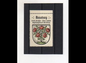 Y2113/ Reklamemarke Annaburg Prov. Sachsen Wappen ca.1930 Kaffee Hag