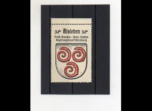 Y2114/ Reklamemarke Alsleben Prov. Sachsen Wappen ca.1930 Kaffee Hag