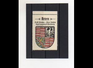 Y2118/ Reklamemarke Artern Prov. Sachsen Wappen ca.1930 Kaffee Hag
