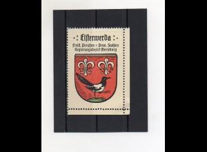 Y2120/ Reklamemarke Elsterwerda Prov. Sachsen Wappen ca.1930 Kaffee Hag