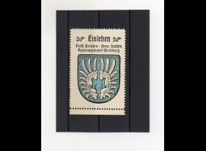 Y2121/ Reklamemarke Eisleben Prov. Sachsen Wappen ca.1930 Kaffee Hag