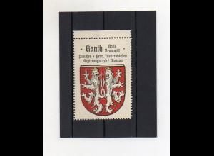 Y2095/ Reklamemarke Kanth Krs. Neumarkt Schlesien Wappen ca.1930 Kaffee Hag