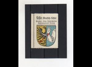 Y2096/ Reklamemarke Deutsch Lissa Schlesien Wappen ca.1930 Kaffee Hag
