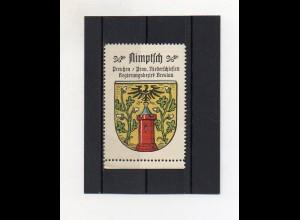 Y2088/ Reklamemarke Nimptsch Schlesien Wappen ca.1930 Kaffee Hag