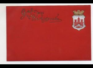 N8173/ Gruß aus Wernigerode schöne Wappen Ak Prägedruck ca.1900