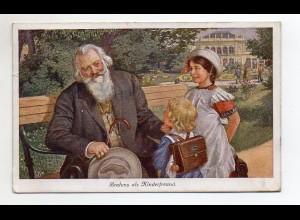 T697/ Brahms als Kinderfreund AK 1919 Komponist
