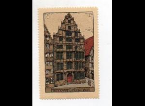 Y3910/ Reklamemarke Hannover Steinzeichnung Litho ca.1912