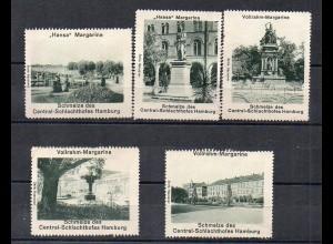Y3923/ 4 Reklamemarken Friedrichsruh Central-Schlachthof Hamburg Margarine