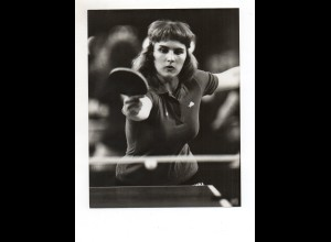 C2039/ Tischtennis Susanne Wenzel DM in Münster 1983 Pressefoto 21,5 x 16,5 cm