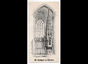 C2258/ St. Ludgeri in Norden kleines Heft 8 Seiten ca.1950