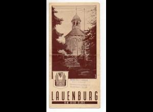 C2257/ Lauenburg Elbe Prospekt 1952