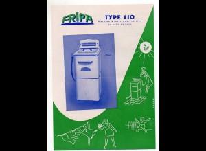 C2249/ FRIPA Type 110 Waschmaschine für die Küche Werbeblatt ca.1955
