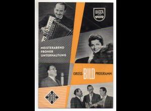 C2244/ Künstler Sänger auf DECCA und Telefunken Heft 12 Seiten ca.1958