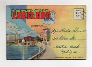 Y4178/ Lakeland Florida Leporello Souvenir de Folder 1945 USA