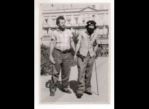 C2759/ Habana Kuba 2 Castro-Anhäger mit Pistole 1959 Foto AK 21 x 15 cm Cuba