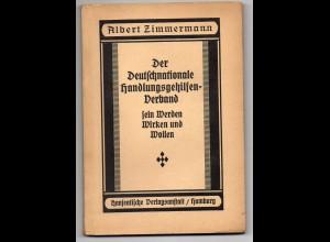 C2267/ DHV Handlungsgehilfen-Verband Hamburg Buch ca.1930 104 Seiten