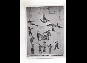C2688/ Chong-Tee-See Haar-Akrobaten Fotomontage 18 x 13 cm ca.1955