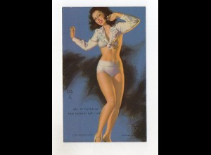 T1826/ Pin Up Erotik Mutoscope Card 1948