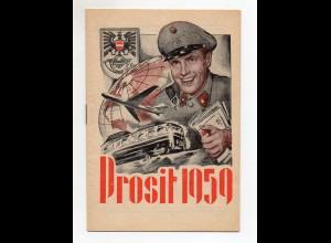 Y4219/ Prosit 1959 Portoheft Post