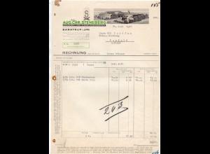 C2226/ Rechnung Barntrup Lippe Aug. Chr. Steneberg Zigarren-Fabrik 1937