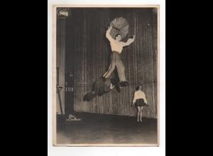 C2205/ 3 Daltons Drahtseil-Artisten Variete Zirkus Foto ca.1955 24 x 18 cm