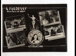 C2196/ 4 Földessy Zahnkraft-Artisten Variete Zirkus Foto ca.1955 23 x 17 cm
