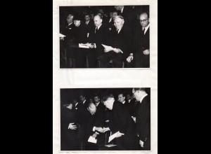 C2332/ 4 x Foto Ludwig Erhard bei der Trauerfeier von Franz Blücher 1959