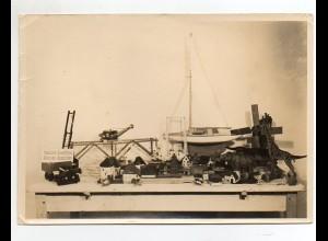C2394/ Spielzeug Modellbau Ausstellung geplante Produkte Foto ca.1935