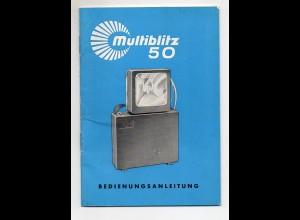 C2392/ Multiblitz 50 Bedienungsanleitung Blitzgerät 1963