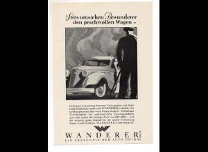 C2386/ Original Werbung Anzeige Wanderer Auto Union Autombil ca.1935